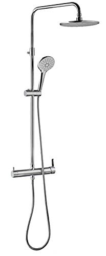 Wirquin 60723469 BERGAMO Touch - Columna de ducha con grifo mecánico
