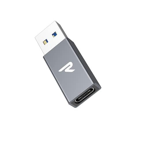 RAMPOW Adattatore USB C a USB 3.0, Adattatore USB C Femmina a USB A Maschio Adattatore Ricarica Veloce Compatibile con MacBook, iPad Pro, Samsung Galaxy, Huawei