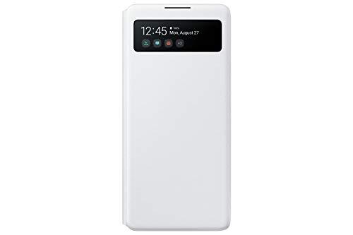 Samsung S View Smartphone Cover EF-EG770 für Galaxy S10 Lite, Handy-Hülle, stoßfest, Schutz Hülle, integriertes Sichtfenster weiß