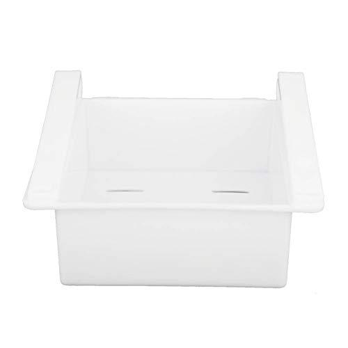 Operalie Deslice la Caja del refrigerador, Organizador de la Cocina Deslice el Estante de Almacenamiento del refrigerador extraiga la Caja del cajón del Tenedor(Blanco)