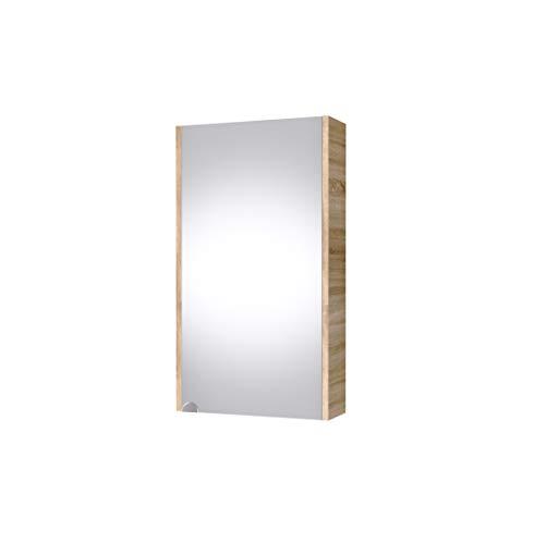 Planetmeubel spiegelkast 40cm gastentoilet (Sonoma eik)