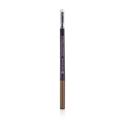 Yves Rocher COULEURS NATURE Augenbrauen-Stift 12h Halt Châtain, ultra-feiner Brauenstift in Braun, 1 x Stift mit Bürste 0,09 g