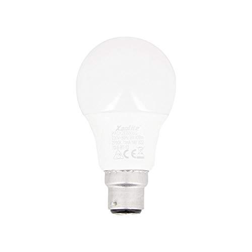 Xanlite PACK2EB806G - Lote de 2 bombillas LED A60-Culot B22-10 W Cons (60 W Eq.) - Bombilla estándar para oficina, habitación infantil, adulto, bebé, habitación de vivo, luz blanca cálida, 0 W