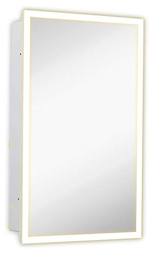 Hamilton Hills Medicine Cabinet with Lighting Backlit Medicine Cabinet 16' x 26'