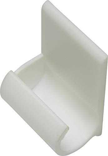 Gardinia Gancho Adhesivo para Barra de Cortina (diámetro, Color Blanco, plástico ABS, Ø 11+12 mm