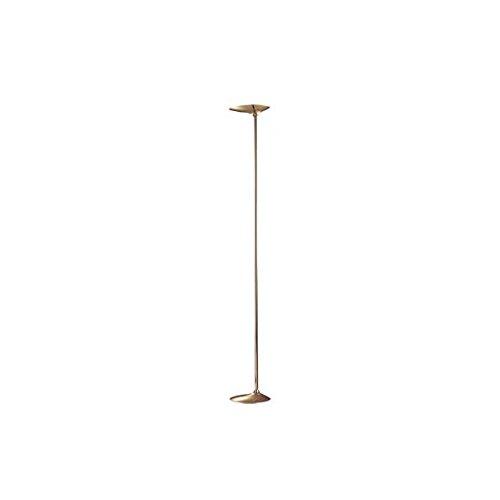 Staande lamp woonkamer serie Alaya kleur leer LED
