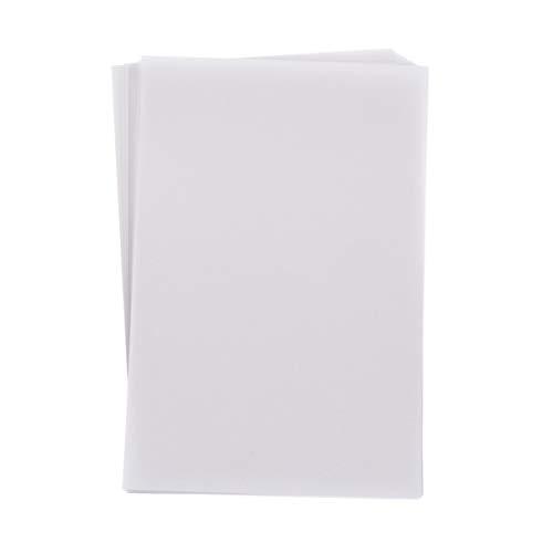 Healifty 100 Blatt Weißes Transparentpapier Pergamentpapier zum Bedrucken Transparentblätter zum Skizzieren Drucken Zeichenpapier