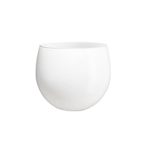 Holmegaard cocoon pot de fleurs blanc-dimensions : 12,8 cm