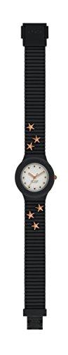 Orologio HIP HOP donna PUNK LADY quadrante bianco e cinturino in silicone, glam nero stars, movimento SOLO TEMPO - 3H QUARZO