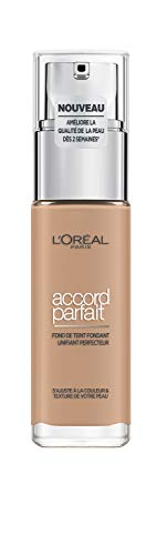 L'Oréal Paris Make-Up Designer Accord Parfait R5 Sable Rosé Frasco dispensador Líquido - base de maquillaje (Sable Rosé, R5, Frasco dispensador, Líquido, Natural, Francia)