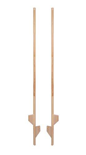 AZZAP Holzstelzen 170cm Natur Holz Stelzen Kinderstelzen Ballance
