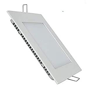 Pack 5x Panel LED Cuadrado 18w. Color Blanco Frío (6500K). 1600 lumenes. Driver incluido. A++