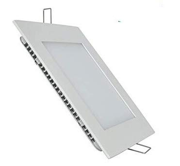 Pack 5x Panel LED Cuadrado 18w. Color Blanco Frío (6500K). 1600 lumenes. Driver incluido. A++