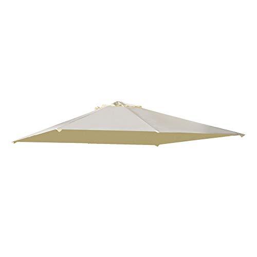 Outsunny Pavillondach, Ersatzdach für Pavillon, Pavillonabdeckung, Sonnenschutz Polyester, Beige, 3 x 3 m