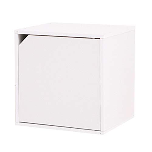 Cube Bücherregal, Lagereinheit Schrankraum Organizer öffnen Bücherregal DIY Cube Storage Rack Modular Design Holzwürfel Regal,M