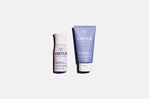 Virtue Full Shampoo & Conditioner Set | Travel Size | Alpha Keratin Thickens, Volumizes Hair | Sulfate Free, Paraben Free, Color Safe