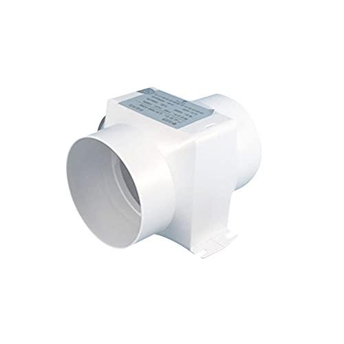 LVMMO Ventilador hidropónico de conducto de flujo mixto para ventana, conducto de buhardilla, cocina, tienda de cultivo, granero Factoris, 100 mm, 150 m²/h, 120 Pa 15 W