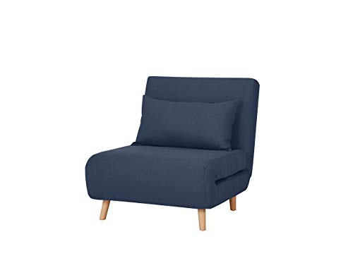 Marca Amazon - Movian Scutari - Sofá cama, 77 x 90 x 81, azul oscuro