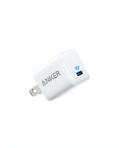 USB C Charger, Anker 18W PIQ 3.0 Compact Fast Charger Adapter, PowerPort III Nano USB C Wall Charger for iPhone 11/11 Pro / 11 Pro Max/XR/XS/X, Galaxy S10 / S9, Pixel 3/2, iPad Pro and More