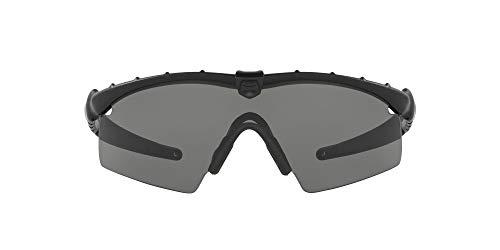 Oakley Men's OO9046 M Frame 2.0 Strike Shield Sunglasses, Matte Black/Grey, 30 mm