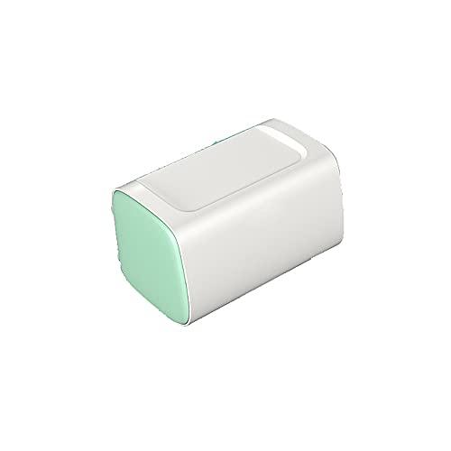 Hanpiyigzjh vävnadslåda, 1pc bänkskiva multi-lager toalettpapperhållare, plast, för kök, sovrum och badrum 22 * ??14 * 13.5cm, svart, grön (Color : Green)