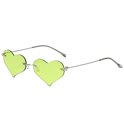 LUOXUEFEI Gafas De Sol Gafas De Sol Mujer Sin Montura Accesorios Para Gafas Para Damas Decoración Púrpura Rojo Verde