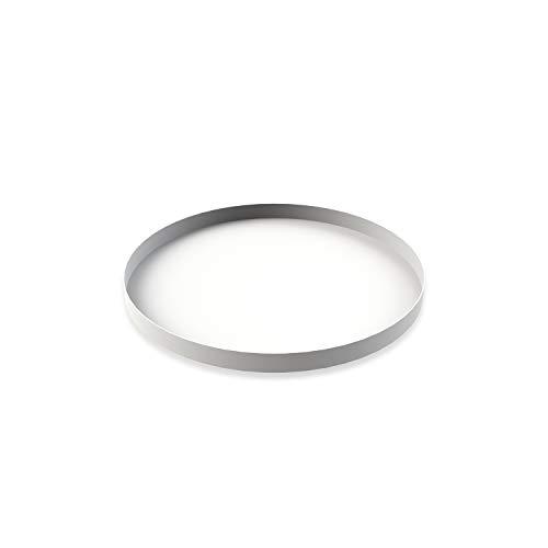 Cooee Design Tray Tablett, Edelstahl, Weiß, 30 cm