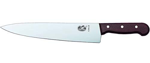 Victorinox Rosewood Küchen-/Tranchiermesser, mit Holzgriff, Gerade Klinge, 28cm Klingenlänge, Swiss Made