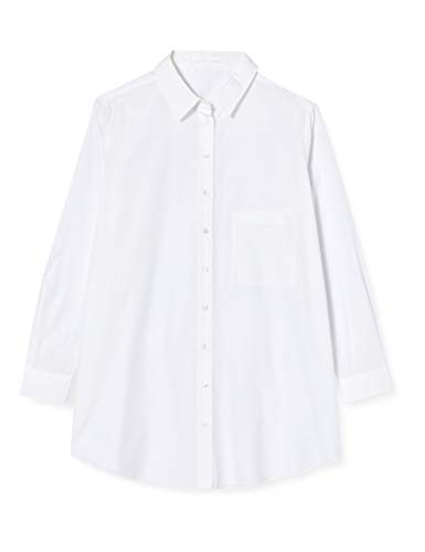 BOSS Damen C_Bemalong 10229074 01 Bluse, White100, 34