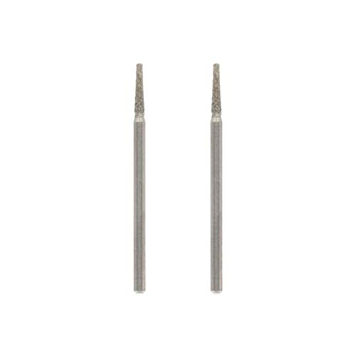 Dremel 7134 Diamond Flat Head Points, Accessory Set 2-pack with 2.0 mm Bits for Engraving, Carving and Cutting