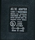GENUINE Class 2 Transformer Adaptor (Model# DC30300 / CSN: A9327) DC3V, 300mA, 3W, 60Hz