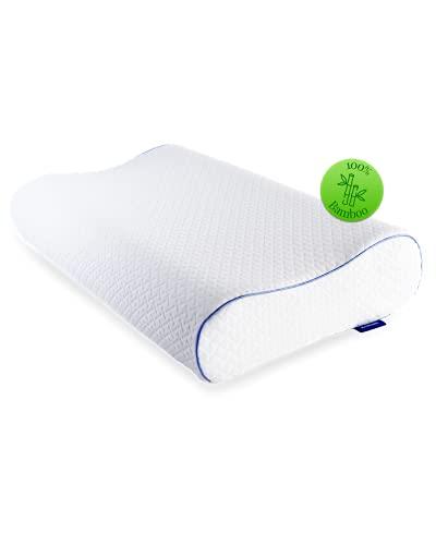 Bedtime Almohada de espuma viscoelástica para dolores cervicales, almohada ortopédica con espuma viscoelástica, 40 x 60 cm