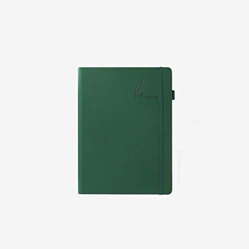 Cuaderno clásico Literaria portátil Simplicidad, Hardcover Diario Premium Papel Grueso (80 g) en posición Plana señales del diseño, Verde Oscuro 2 Pack (tamaño : B5)