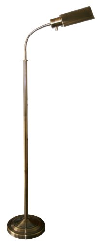 daylight24 402051-07 Natural Daylight Battery Operated Cordless Floor Lamp, Antique Brass