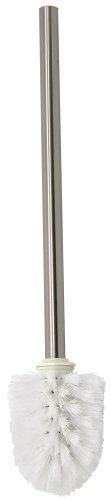 Fackelmann Ersatz-Toilettenbürste FUSION, WC-Bürste für 86966, Klobürste (Farbe: Silber/Weiß), Menge: 1 Stück