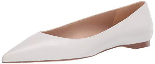 Sam Edelman Women's Stacey Ballet Flat, Bright White, 5