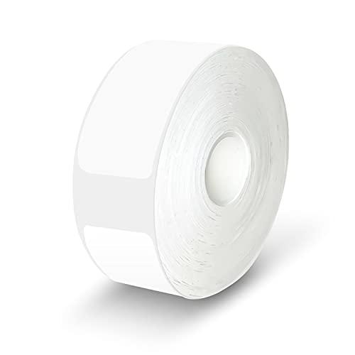 Selbstklebendes Thermoetikett, Kuchoow Thermoetikettenpapier zum Etikettendruck für Kleine Bluetooth Etikettendrucker, Weiß, 15x30mm, 230/Rollen