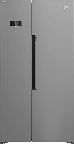 Beko GN163231XBN Side-by-Side Kombination/NoFrost/ 0°C-Zone/Multifunktionsdisplay/Wasserspender mit Tank/HxBxT: 179x91x72 cm/Edelstahllook mit integrierten Griffen