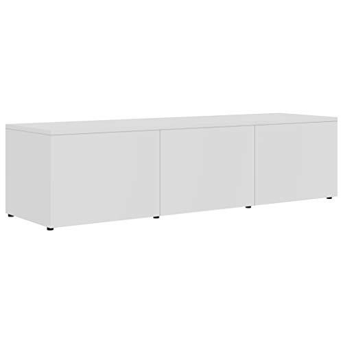 vidaXL TV Schrank mit 3 Schubladen Lowboard TV Möbel Sideboard Fernsehtisch Fernsehschrank HiFi-Schrank Weiß 120x34x30cm Spanplatte