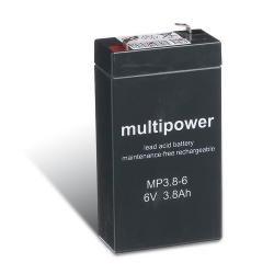 Multipower Bleiakku MP3,8-6 (6V / 3,8 Ah), wartungsfrei