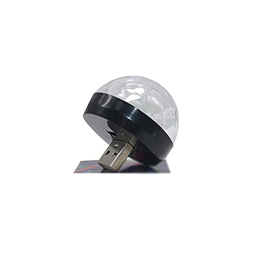 JEZZ Coche USB LED Luces de Fiesta Efecto de Escenario Karaoke Atmósfera Lámpara 4W 5V Bola de Discoteca portátil Colorido DJ Disco Luz Música (Size : B)