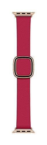 Apple Watch (40mm) Modernes Lederarmband, Himbeere - Small
