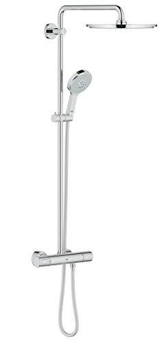 GROHE Rainshower System 310 | Duschsystem inkl. 450 mm Duscharm, Metall-Kopfbrause, Handbrause Power&Soul, Brauseschlauch 1.750 mm | chrom | 27968000