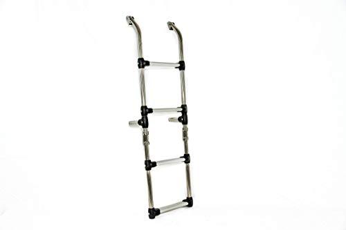 Escalera Plegable De Acero Inoxidable De 5 Escalones En Aluminio Antideslizante Para Barco