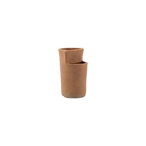Foreside Home and Garden Natural Terracotta Multi Level Decorative Vase, 4 x 4 x 7, Brown