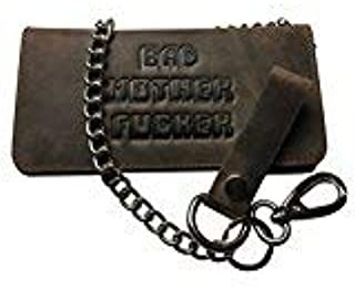 BMF Leather Biker Wallet with Chain新しいTough Rawレザーバージョン