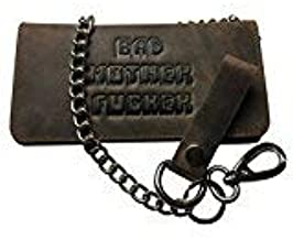 BMF Leather Biker Wallet with Chain New Tough Raw Leather Version