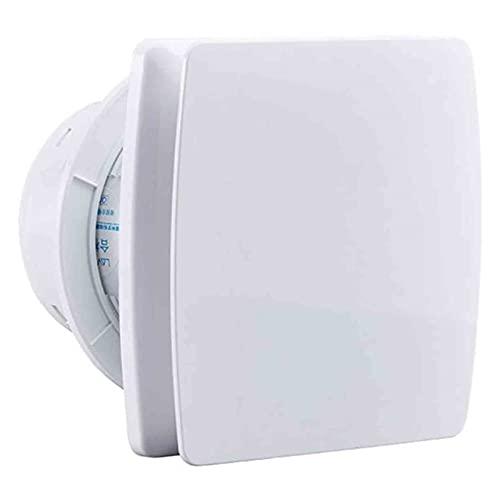 Ventilatore di aspirazione intelligente con timer, ventola estrattore a parete o a parete Ventola di ventilazione silenziosa, con riposo ritardo Timer ventilatore di estrazione di ventilazione, 4 poll