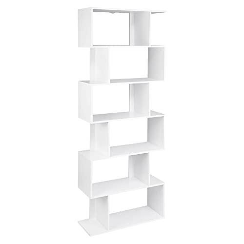 Estantería Blanca para Libros, 6 Unidades de Cubos de Almacenamiento, estanterías Altas Independientes para Sala de Estar, Dormitorio, decoración de Oficina, Muebles, Blanco