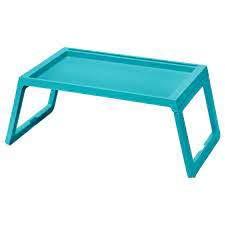 IKEA KLIPSK Bed Tray, Turquoise Blue